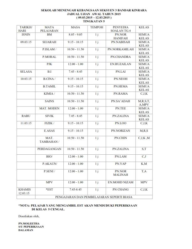 JADUAL UAT 2015 LATEST PELAJAR_002